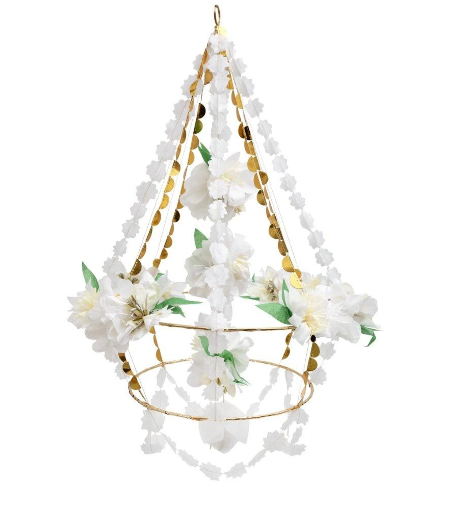 שנדליר פרחים מנייר - Meri Meri
