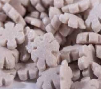 סוכריות לעוגה פתיתי שלג כסף