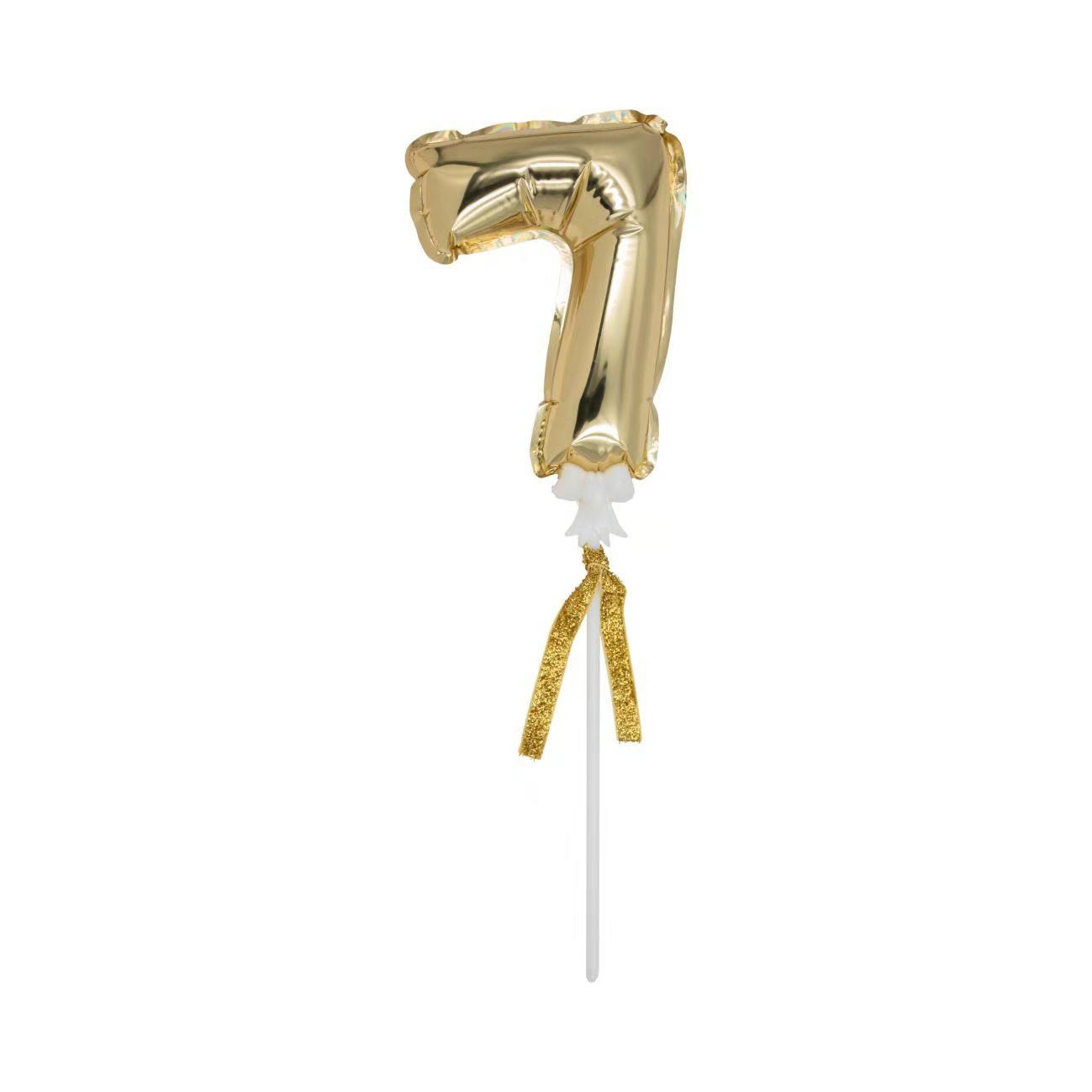 בלון, מיני בלון, בלון ספרה, יום הולדת, קיסם ספרה, ספרה, מספר, עריכת שולחן, סידור שולחן, מסיבת יום הולדת, בלון מספר,
