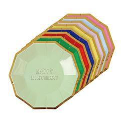 צלחות קטנות צבעוניות הטבעת HB - Meri Meri