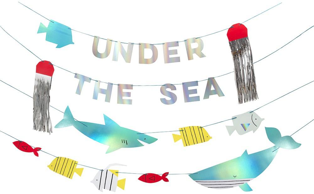 שרשרת מתחת למים - Meri Meri, מתחת למים, Meri Meri, שרשרת, קישוט מסיבה מתחת למים, ים, דגים, כריש, מסיבת יום הולדת, עיצוב יום הולדת ים, מתחת למים