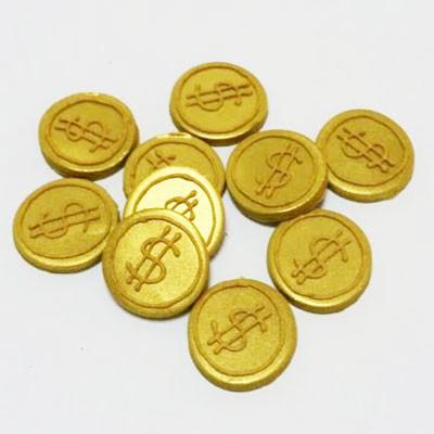 קישוט בצק סוכר- מטבעות מטמון