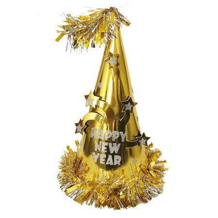 כובע מסיבה זהב Happy New Year