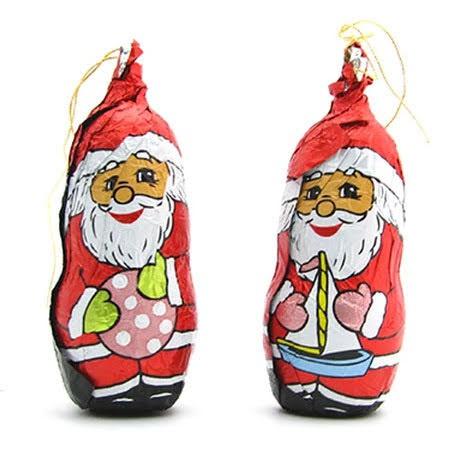 מיני סנטה קלאוס משוקולד לתלייה