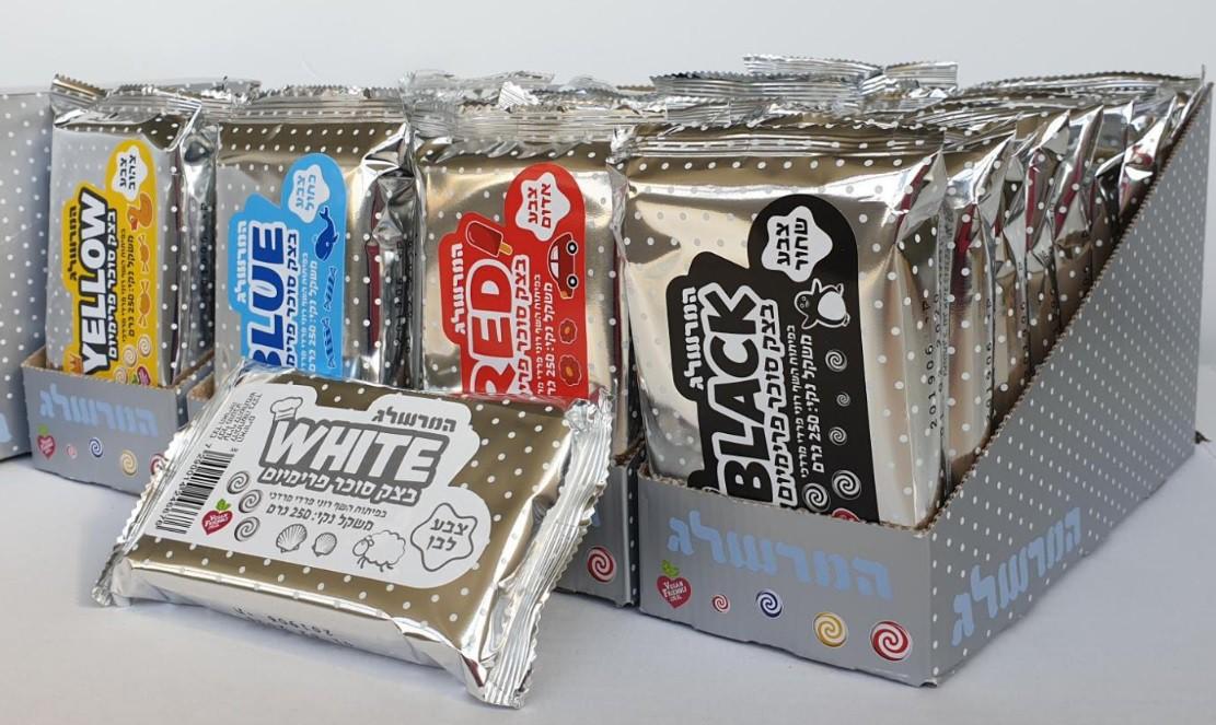 בצק סוכר טבעוני - לבן פיסולי