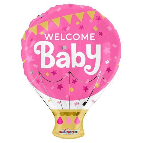 בלון welcome baby ורוד