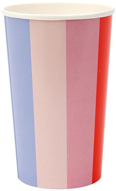גלגל הצבעים, גלגל, צבע, צבעים, כוס, כוסות, Meri Meri, כוסות נייר גבוהות גלגל הצבעים - Meri Meri