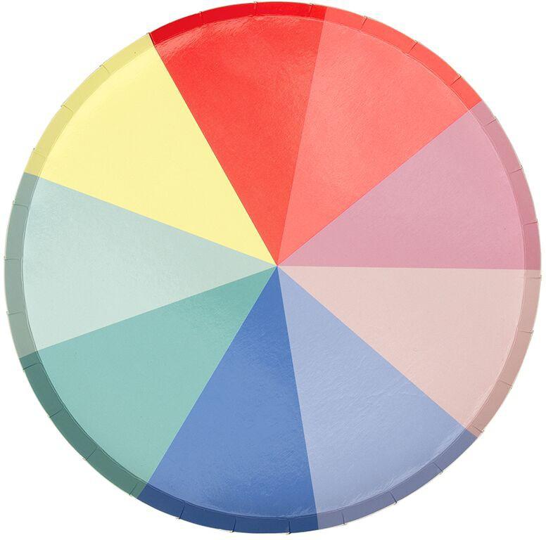 גלגל הצבעים, גלגל, צבע, צבעים, צלחת, צלחת גדולה, Meri Meri, צלחות גדולות גלגל הצבעים - Meri Meri,