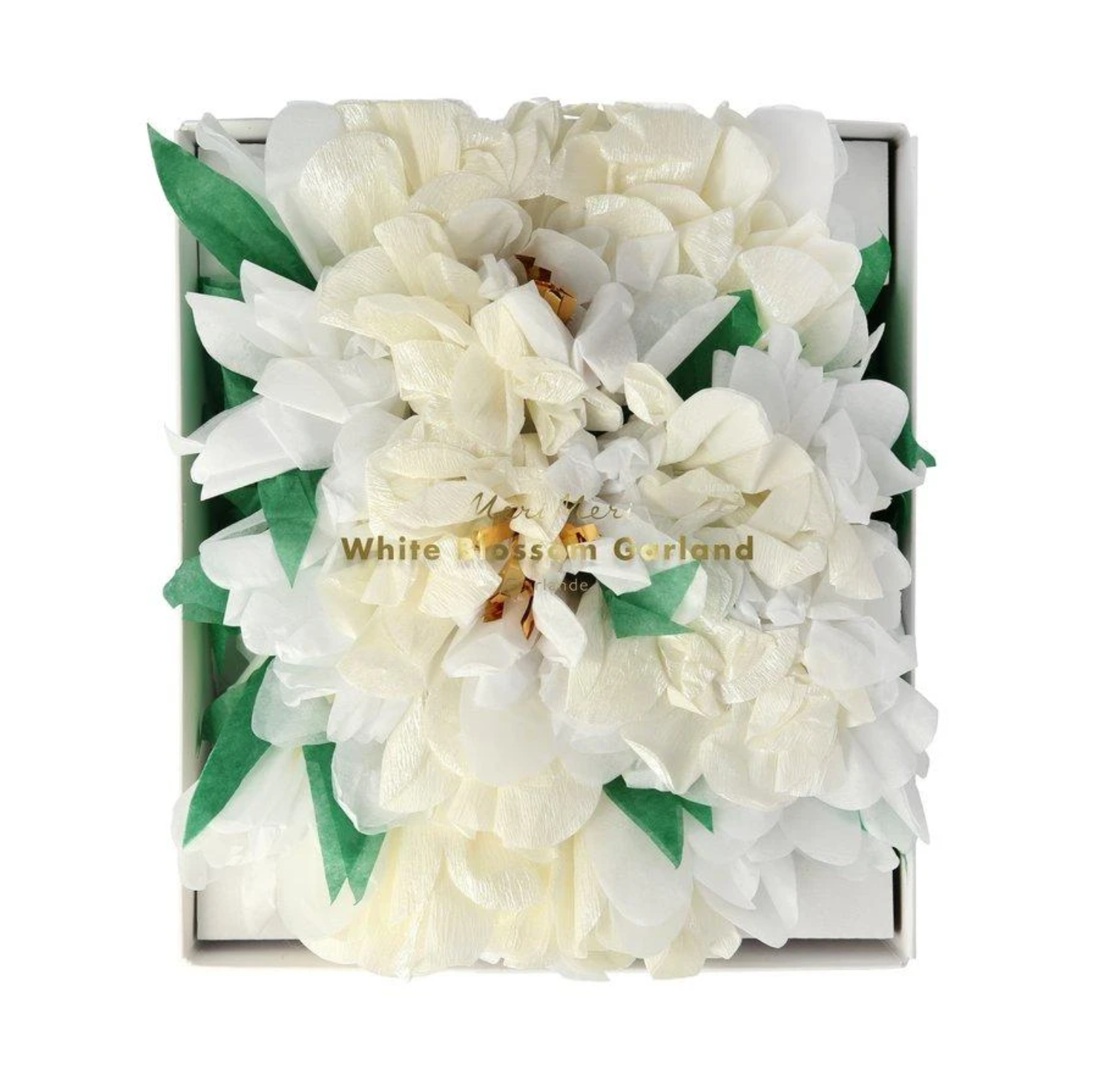 גרילנדת פרחים לבנים - Meri Meri