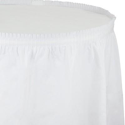 חצאית לשולחן לבן