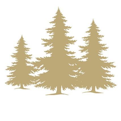 מפיות עצי אשוח זהב