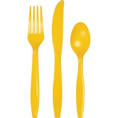 """מארז סכו""""ם פלסטיק צהוב"""