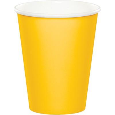 כוסות נייר צהוב