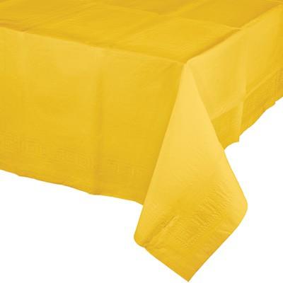 מפת ניילון צהוב, מפה, מפת ניילון, מפה צהובה, צהוב, צהובה,  עיצוב שולחן, סידור שולחן, שולחן צהוב