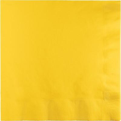 מפיות גדולות 2 שכבות צהוב