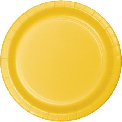 צלחות נייר קטנות צהוב