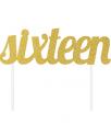 קייק טופר זהב יום הולדת 16