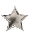 צלחות נייר כוכב כסוף-Meri Meri