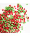 סוכריות לעוגה בצורת תפוחים ירוק ואדום