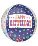בלון הליום Happy Birthday צבעוני