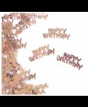 קונפטי Happy Birthday רוז גולד