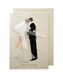 כרטיס ברכה לחתונה - Meri Meri חתן וכלה