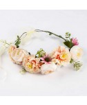 זר פרחים לראש- ורדרד לבן