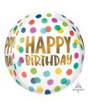 בלון כדור מנוקד Happy Birthday