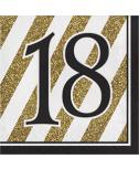 מפיות גיל 18 שחור זהב