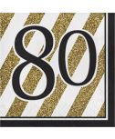מפיות גיל 80 שחור זהב