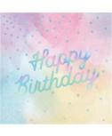 מפיות happy birthday צבעי פסטל