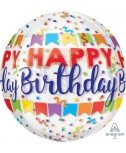 בלון הליום Happy Birthday כדור שקוף