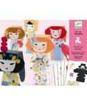 צעצועי נייר - בובות יפניות