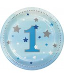 צלחות יום הולדת שנה - בן
