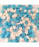 סוכריות לעוגה כוכבים תכלת לבן