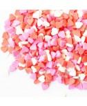 סוכריות לעוגה לבבות אדום, לבן, ורוד