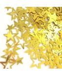 קונפטי כוכבים זהב