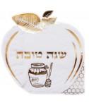 מפיות בצורת תפוח עם עיטור זהב