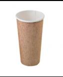 """כוס נייר טבעית 340 מ""""ל"""