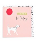 כרטיס ברכה יום הולדת - כלב עם בלון