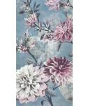 מפיות מלבניות- פרחים רקע כחול