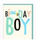 כרטיס ברכה יום הולדת- birthday boy