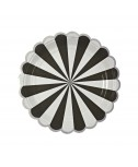 צלחות נייר קטנות שחור לבן - Meri Meri