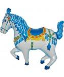 בלון סוס קרוסלה כחול