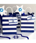 שקית הפתעה כחול לבן לילדים- ממתקים ופרסים