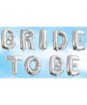 בלון כסף BRIDE TO BE- לניפוח עצמי