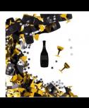 קונפטי שמפניה וכוכבים