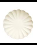 צלחות קטנות מסולסלות ידידותיות לסביבה - קרם -Meri Meri