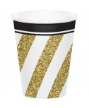 כוסות נייר שחור זהב