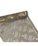 ראנר פשתן מהודר לחנוכה עם הטבעות זהב